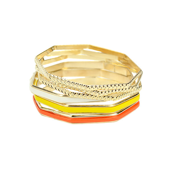 Multilayer Bangle Bracelets Set