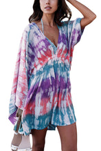 Multicolor Tie Dye Print Beach Cover Up