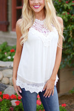 Sleeveless Crochet Lace Top - White