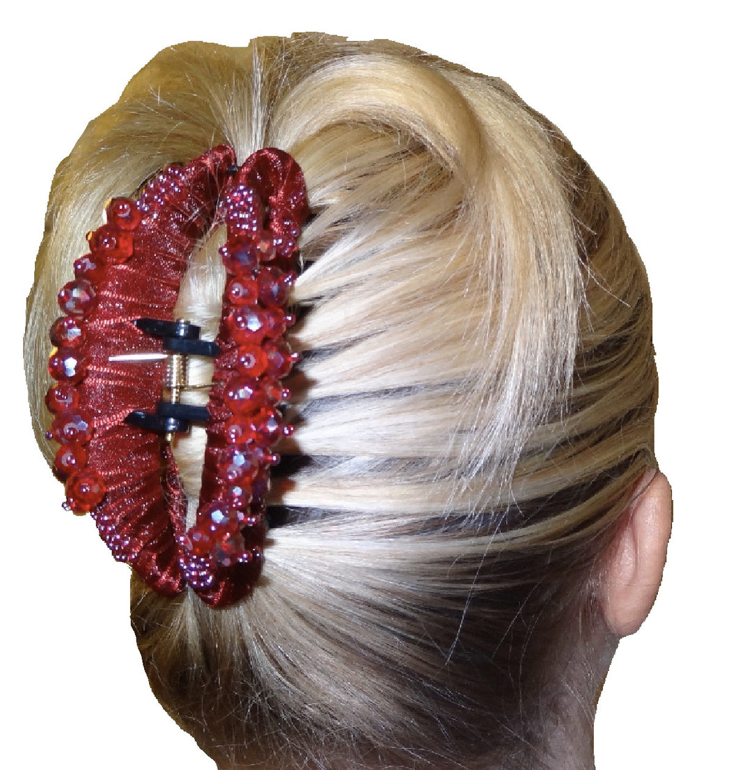 Large Hair Clip Claw - Dark red