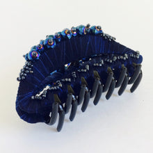 Large Hair Clip Claw - Dark Blue