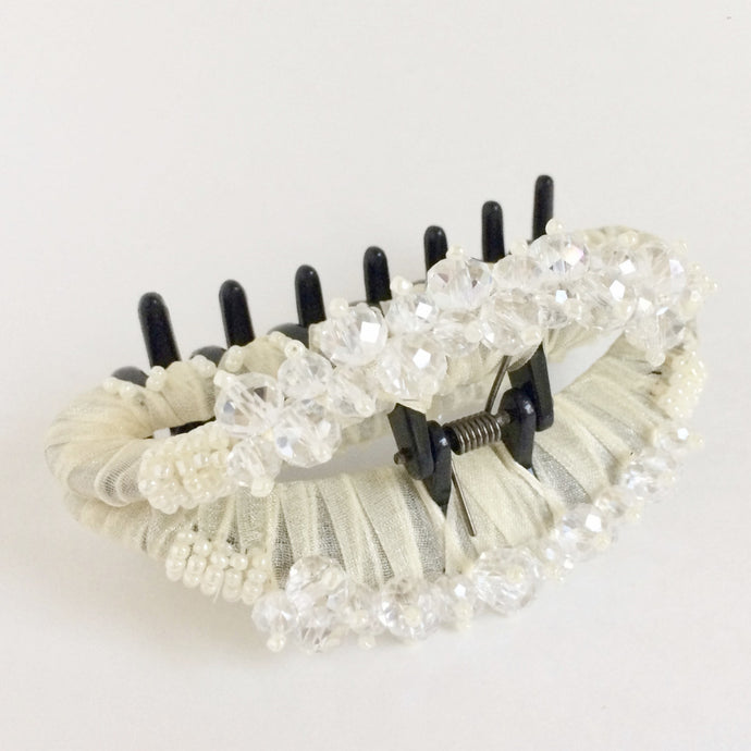 Large No Slip Hair Clip Claw - White