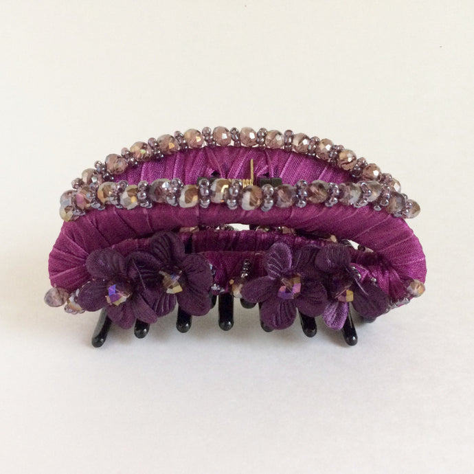 Large Strong Flower Hair Clip Claw - Magenta