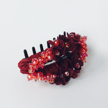 Red Large Strong Flower Hair Clip Claw