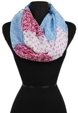Color Block Tiny Floral Print Soft Infinity Scarves