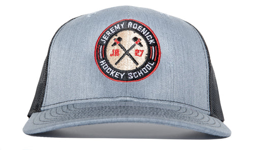 JR Hockey School Hat Mesh Snapback (Gray/Black)