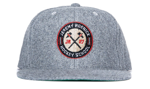 JR Hockey School Hat Wool Snapback (Heather Gray)