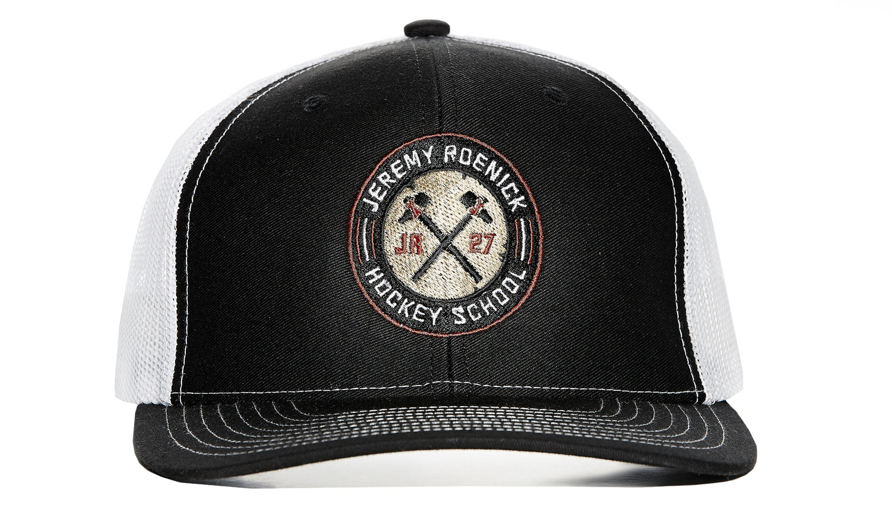 373ff2a6f74 JR Hockey School Hat Mesh Snapback (Black White) – Jeremy Roenick ...