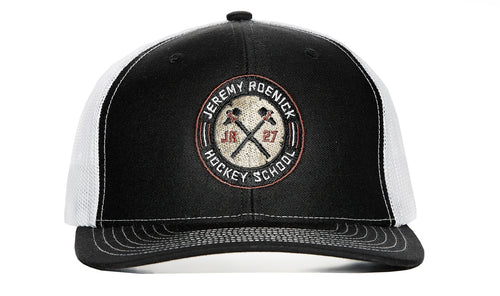 JR Hockey School Hat Mesh Snapback (Black/White)