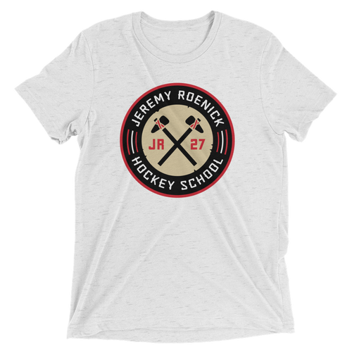 JR Hockey School Logo T-Shirt (White Triblend)