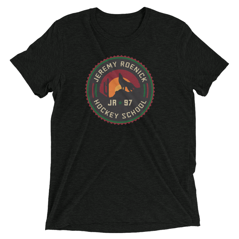 JR Hockey School T-Shirt - Arizona Logo (Very Dark Gray)