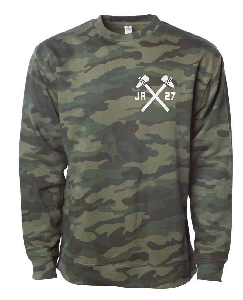 JR Hockey School Crew Sweatshirt (Camo) - Chicago