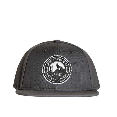 JR Hockey School Hat - Arizona Snapback (Gray w/ White Logo)