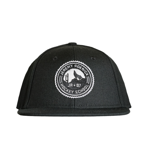 JR Hockey School Hat - Arizona Snapback (Black w/ White Logo)
