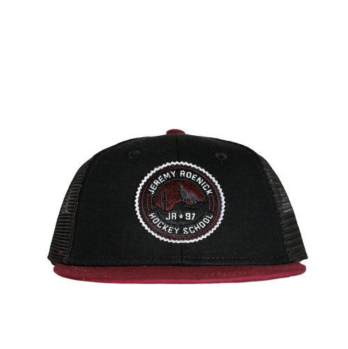 JR Hockey School Hat - Arizona Mesh Back (Black/Maroon)