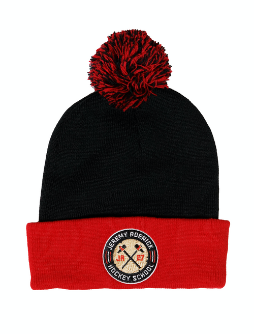 JR Hockey School Hat - Chicago Toque (Black/Red)