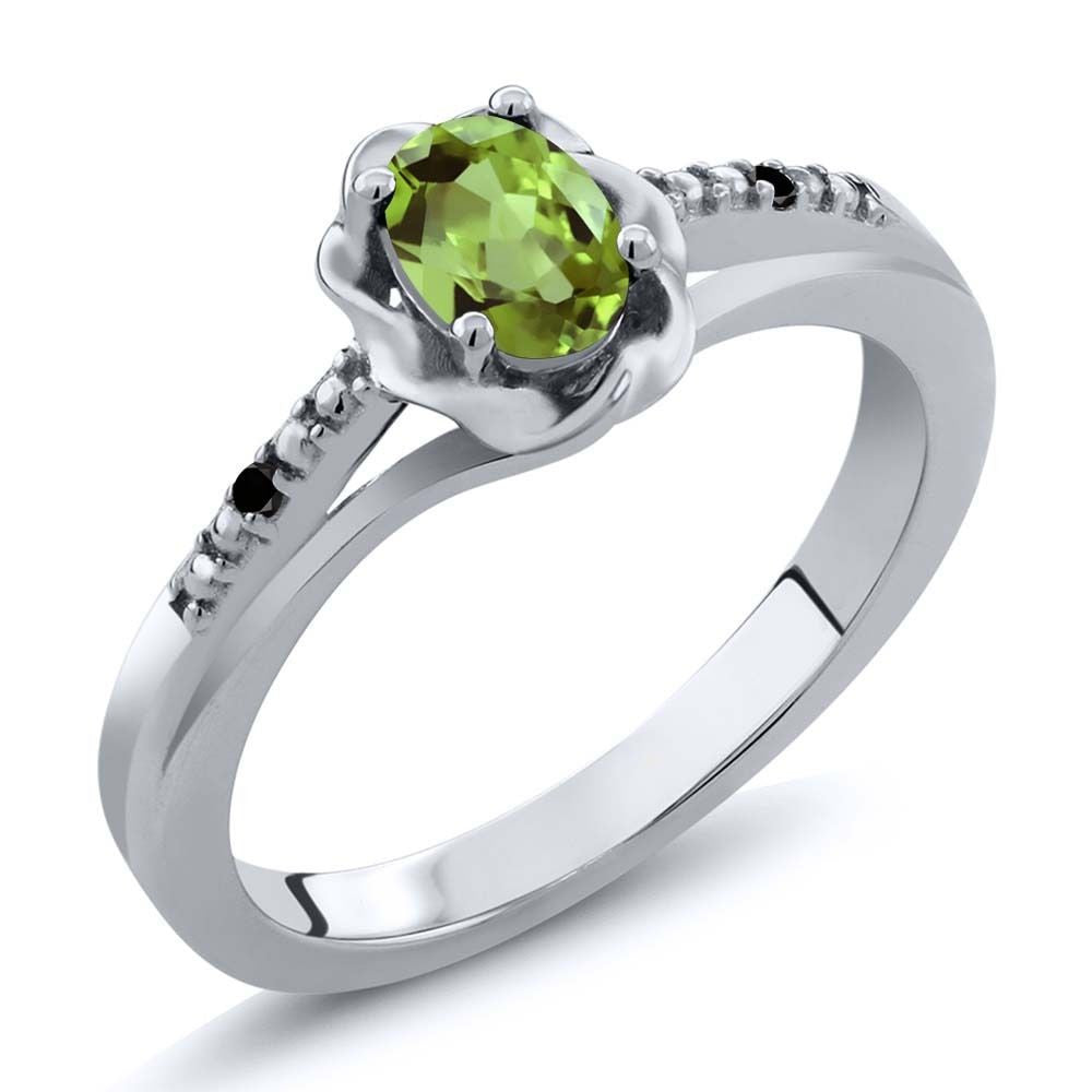 kaufman display m gold rings ring b rich jewelry allison peridot peridotdiamond engagement diamond