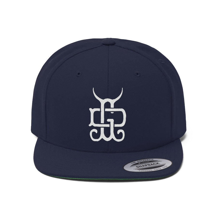 Monogram Flat Bill Hat