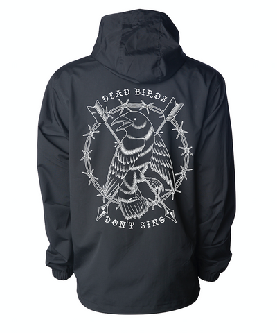 Dead Birds Pullover Jacket Black - JBRD