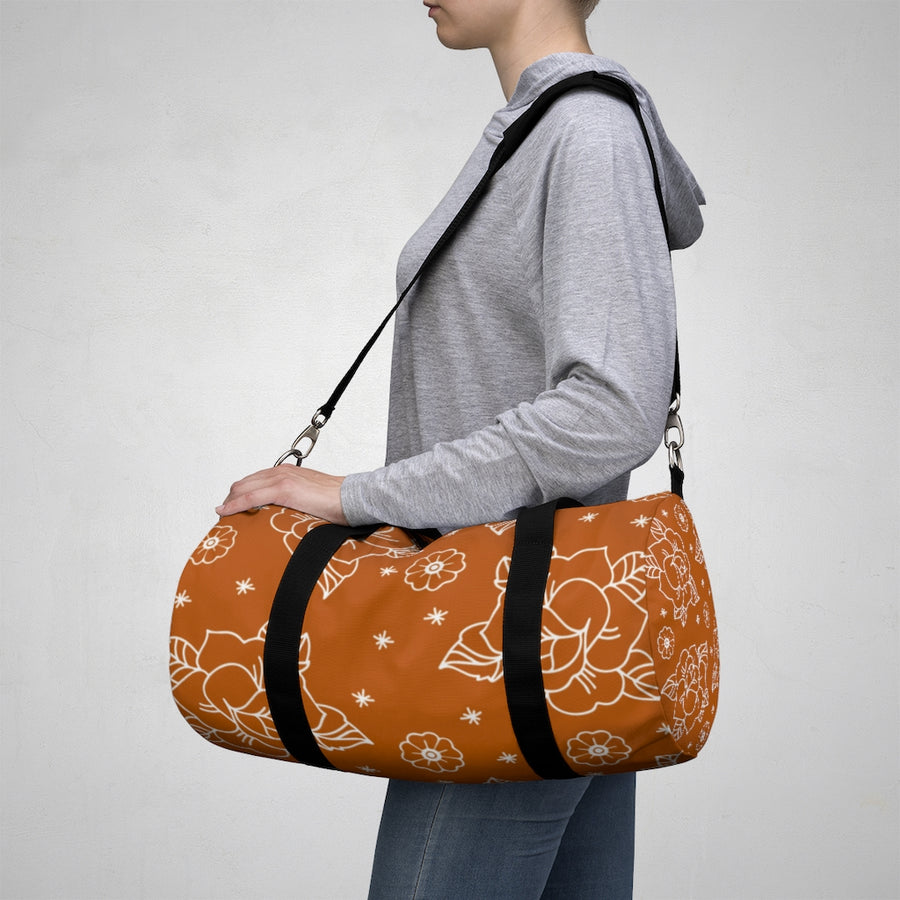Rose Orange Duffel Bag