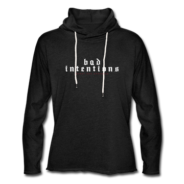 Bad Intentions Unisex Lightweight Terry Hoodie - charcoal gray