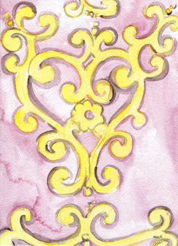 Pink with Gold Cross Anniversary (closeout)