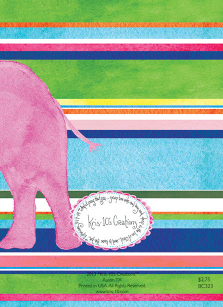 Pink Elephant Stripes