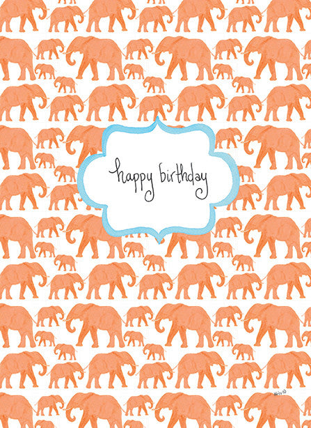 Orange Elephant Birthday