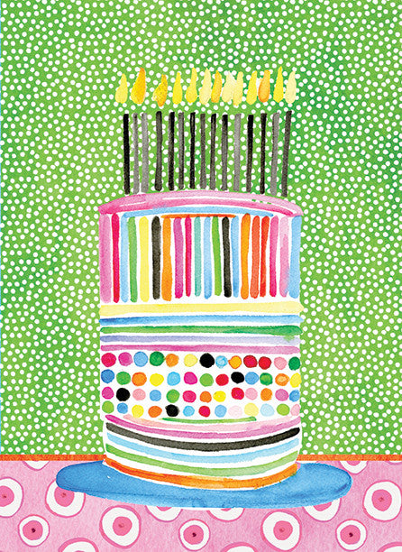 Stripe Dot Cake