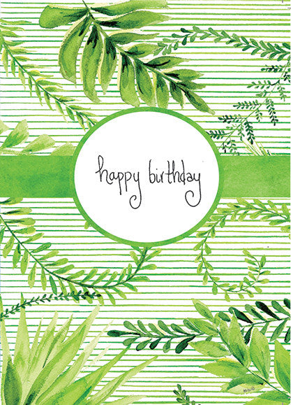 Fern Green Stripe Birthday