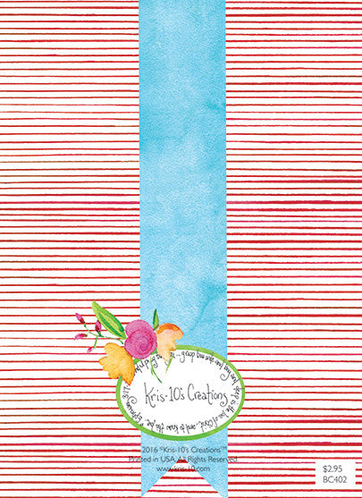 Red Stripe Birthday Wreath