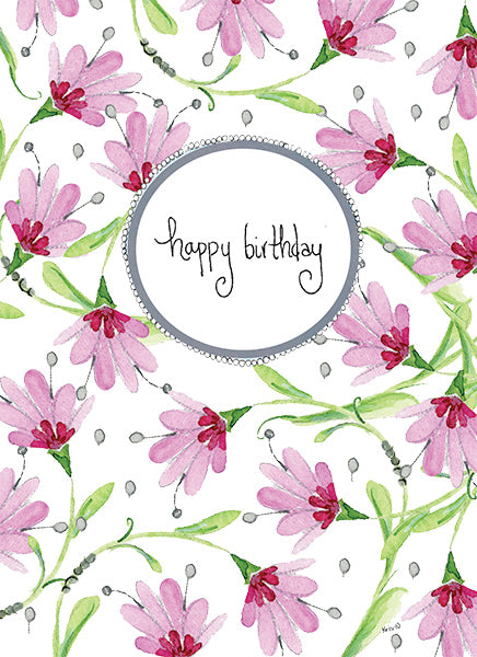 Pink Floral Birthday