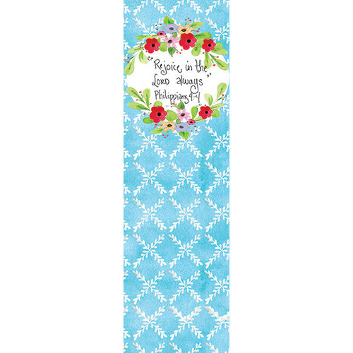 Blue and Red Trellis Bookmark