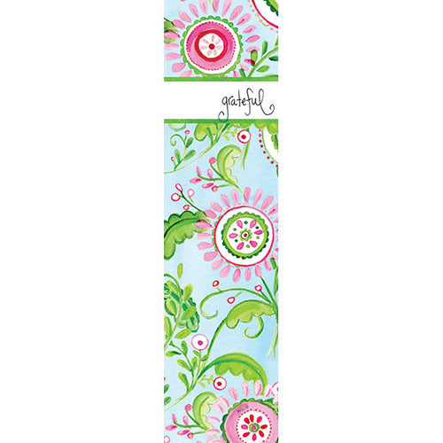 Pink Medallion Floral Bookmark