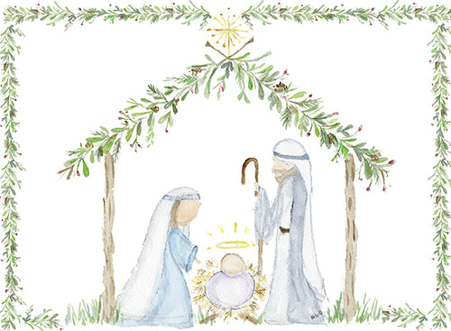 Peaceful Nativity Cards