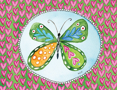 Butterfly Heart Boxed Notes