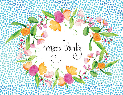 Many Thanks Wreath Boxed Notes