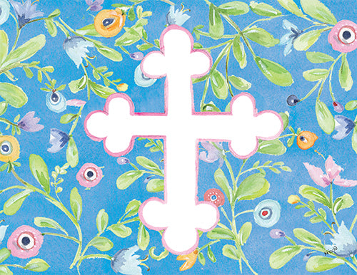 Floral Cross Boxed Notes