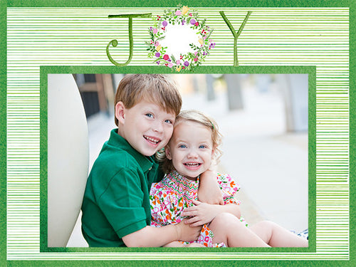 Joy Wreath Stripe Cards