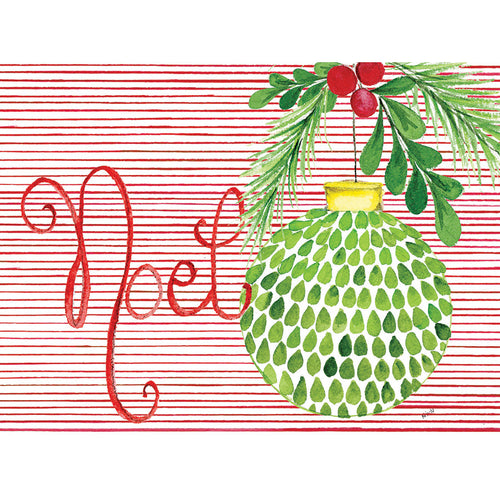 Noel Green Ornament Cards