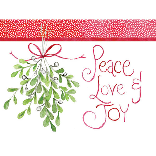 Mistletoe Peace Love Joy Cards