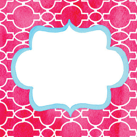 Red Trellis Gift Tags