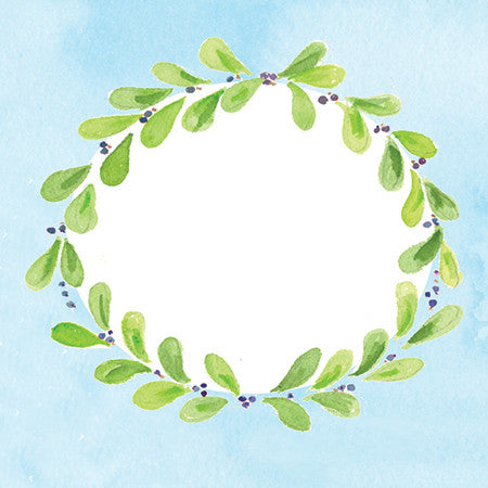 Green Ivy Wreath Gift Tags