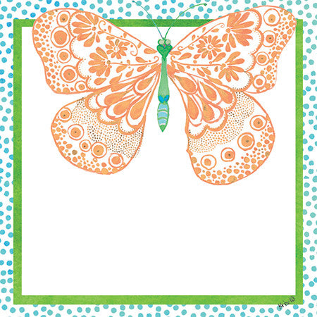 Orange Butterfly Gift Tags