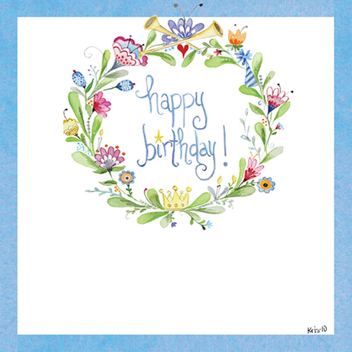 Bday Celebration Wreath Gift Tags