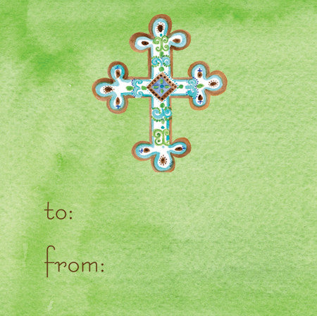 Green Cross Gift Tags