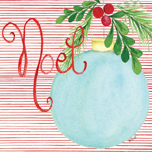 Noel Blue Ornament Gift Tags