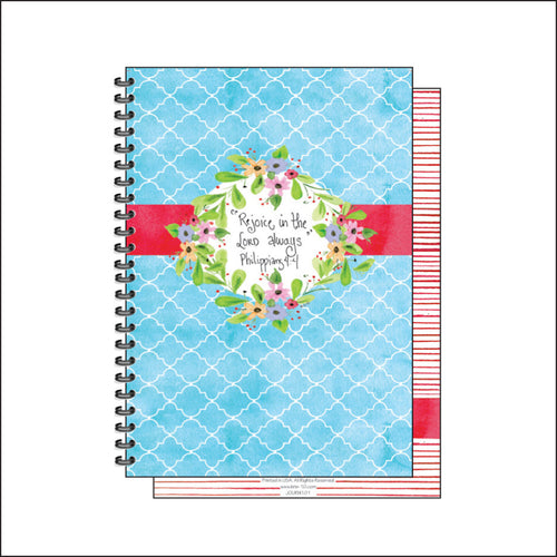 Blue and Red Trellis Journal
