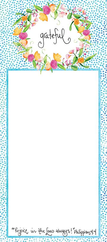 Blue Dots Grateful Notepad Gift Set