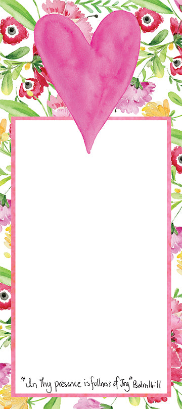 Heart Blossoms Notepad